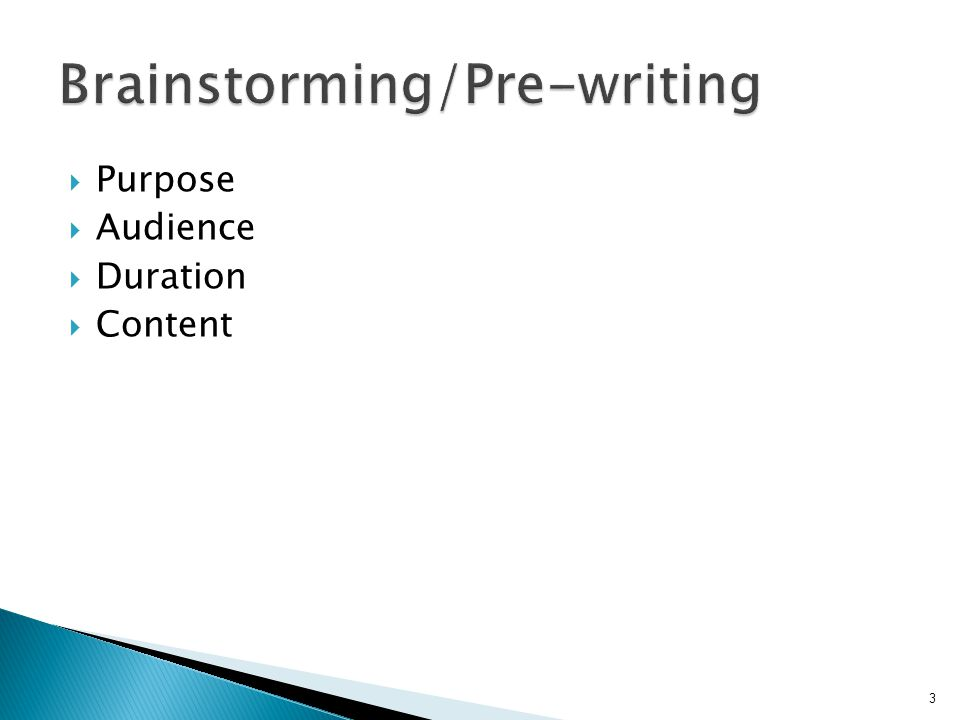  Always brainstorm/pre-write  Remember the10 principles  Never conform to worst practices 24