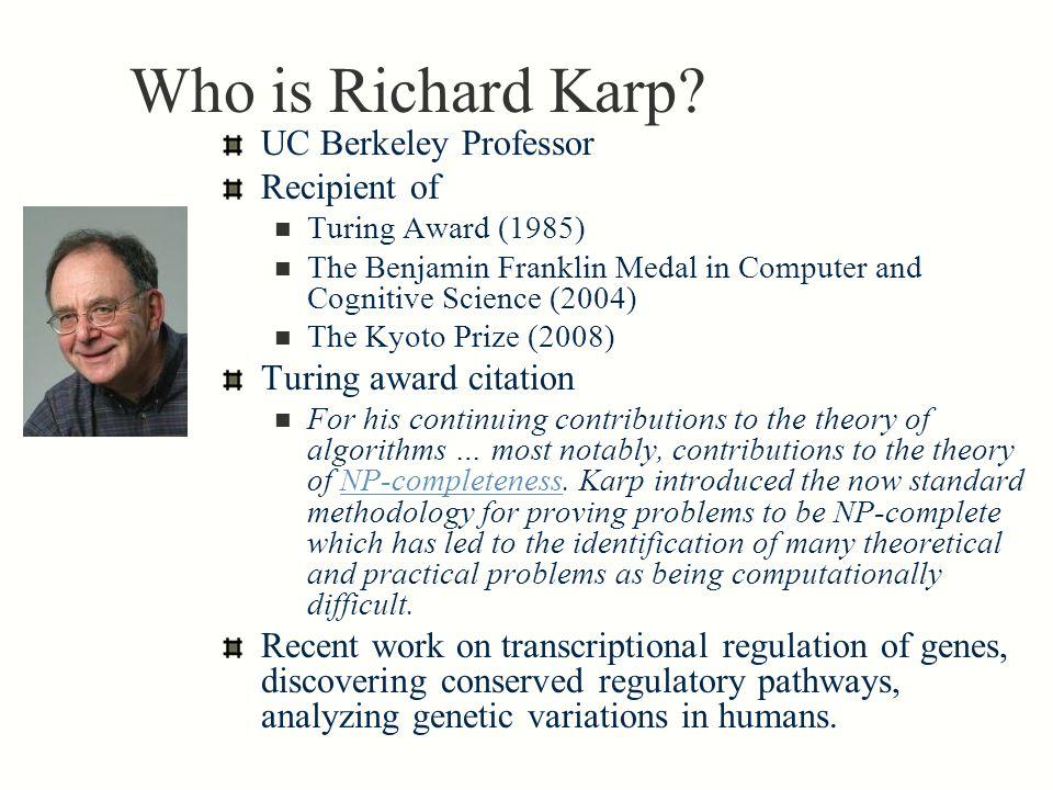 Who is Richard Karp.