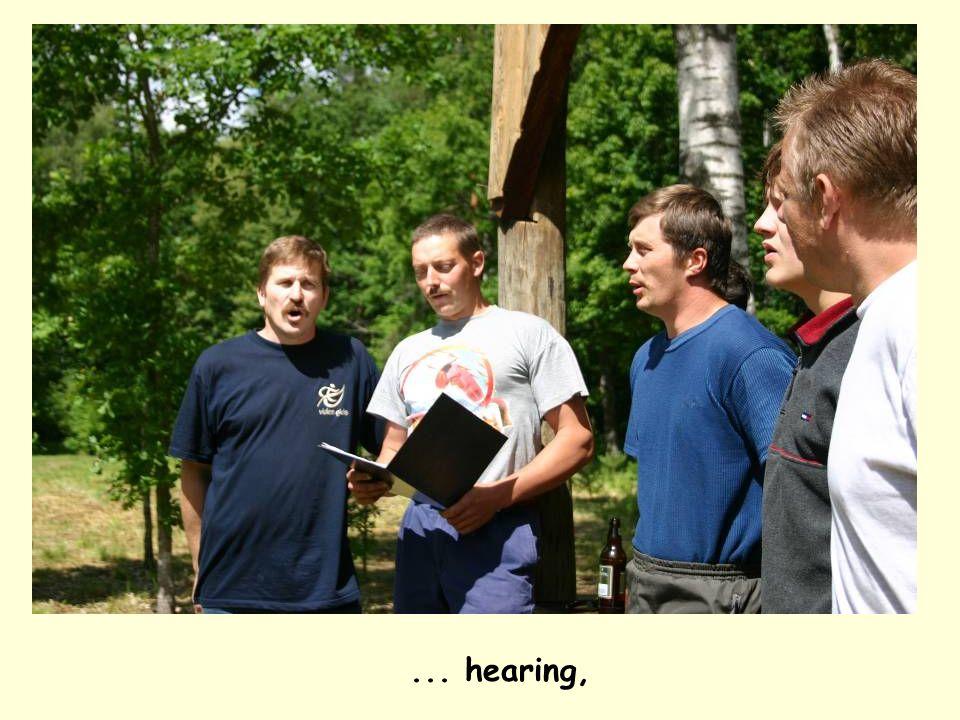 ... hearing,