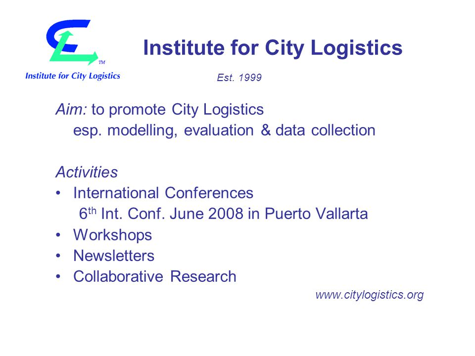 Structure of visions for city logistics