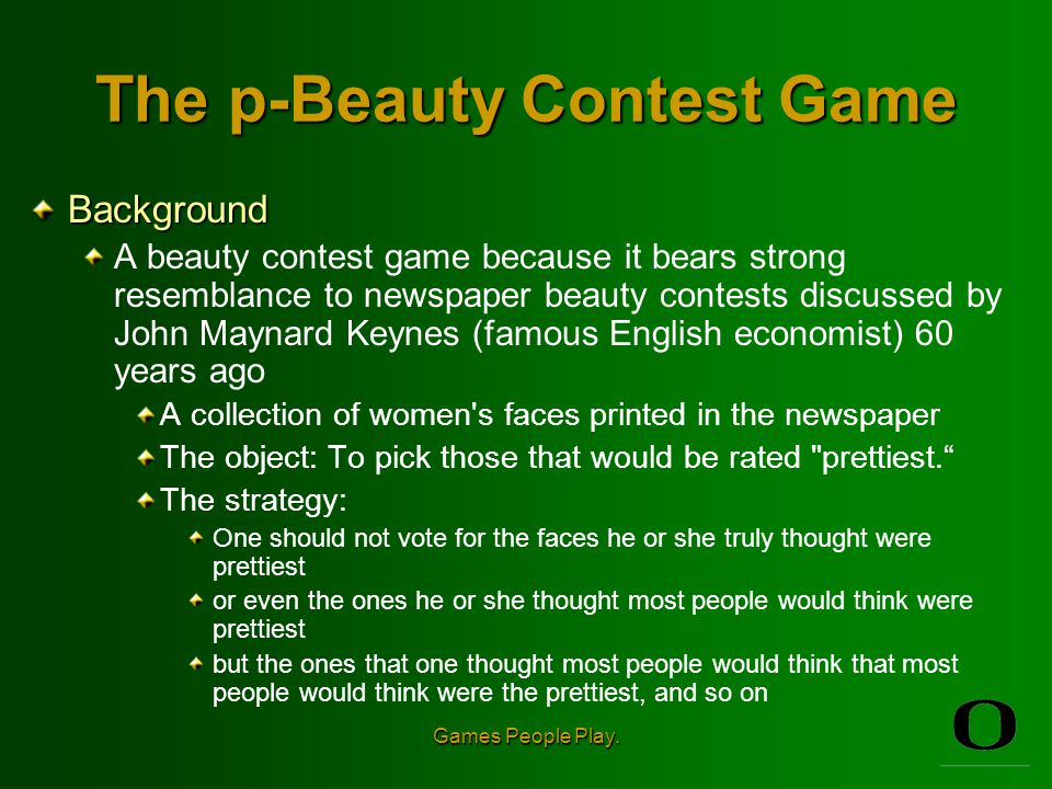 The p-Beauty Contest Game Objective Choose a number between 0 and 100.