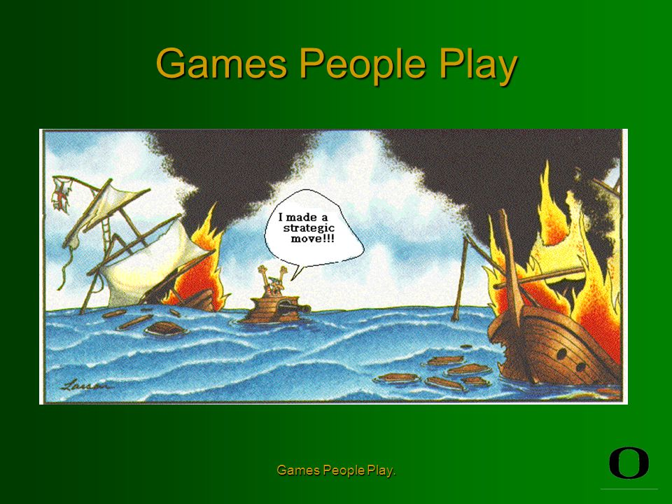 Games People Play.Terminology and Definitions Strategies The choices available to the players.