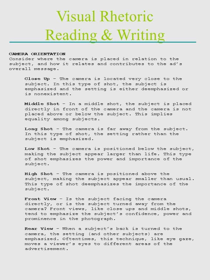 Visual Rhetoric Reading & Writing