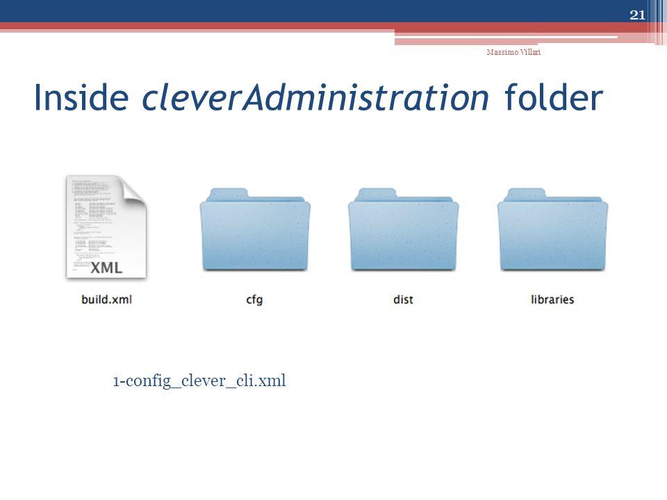 Inside cleverAdministration folder 1-config_clever_cli.xml 21 Massimo Villari