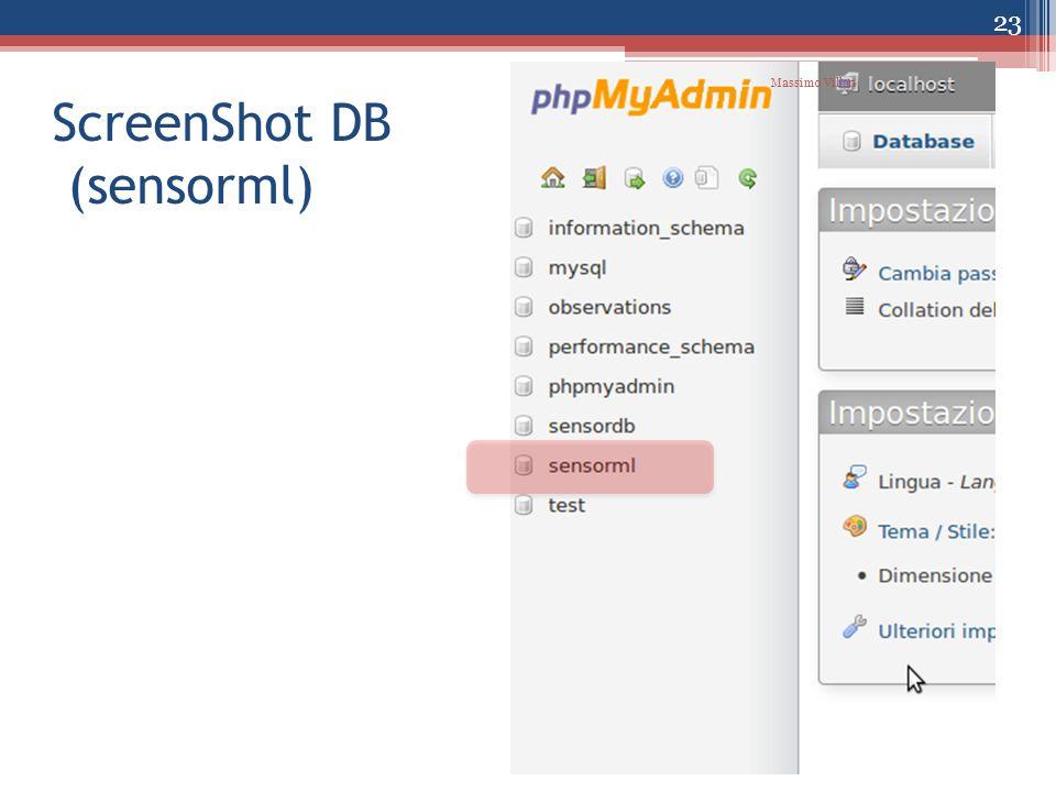 ScreenShot DB (sensorml) 23 Massimo Villari