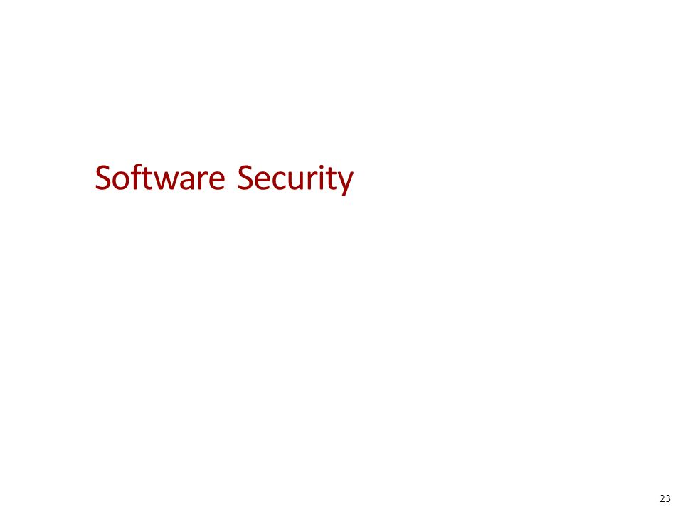 Software Security 23