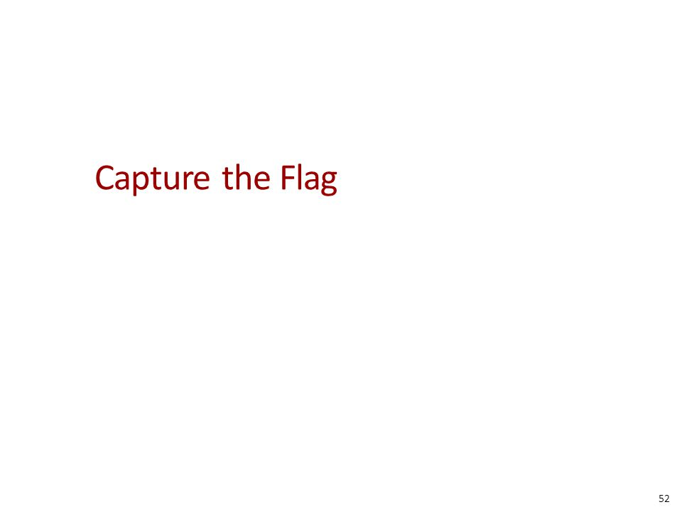 Capture the Flag 52