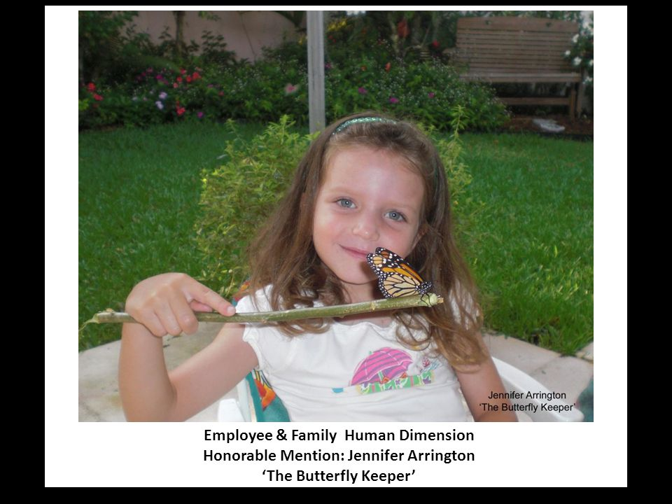 Employee & Family Human Dimension Honorable Mention: Jennifer Arrington 'The Butterfly Keeper'