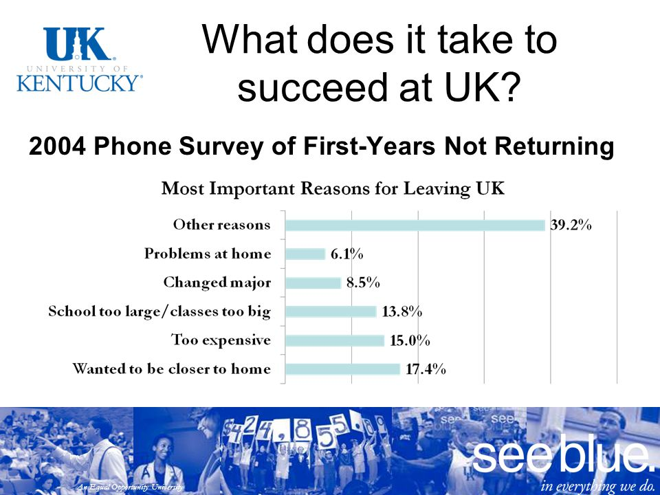 An Equal Opportunity University What does it take to succeed at UK.