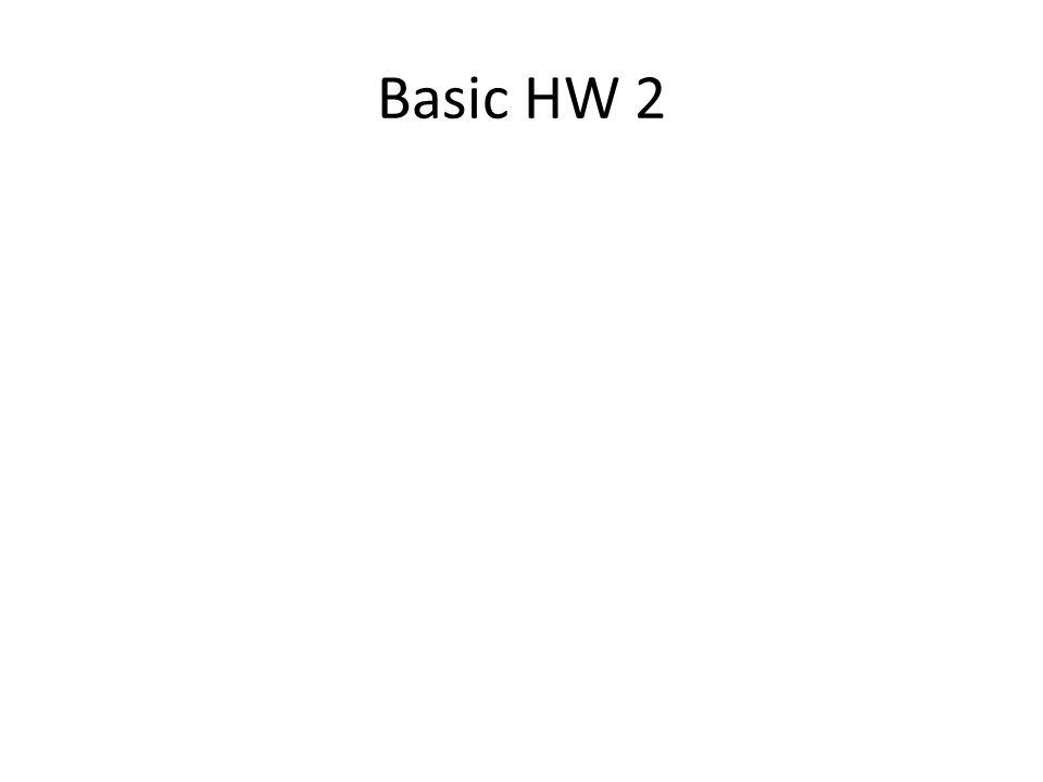 Basic HW 2
