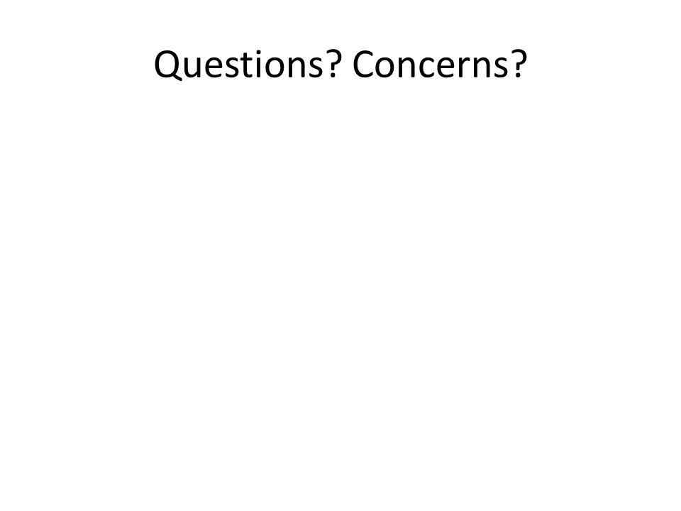 Questions Concerns