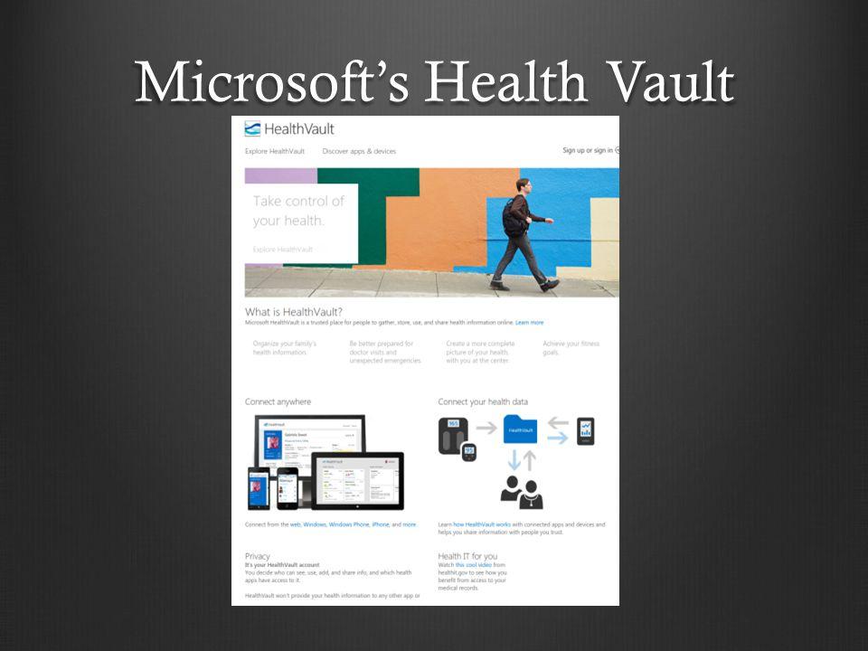 Microsoft's Health Vault