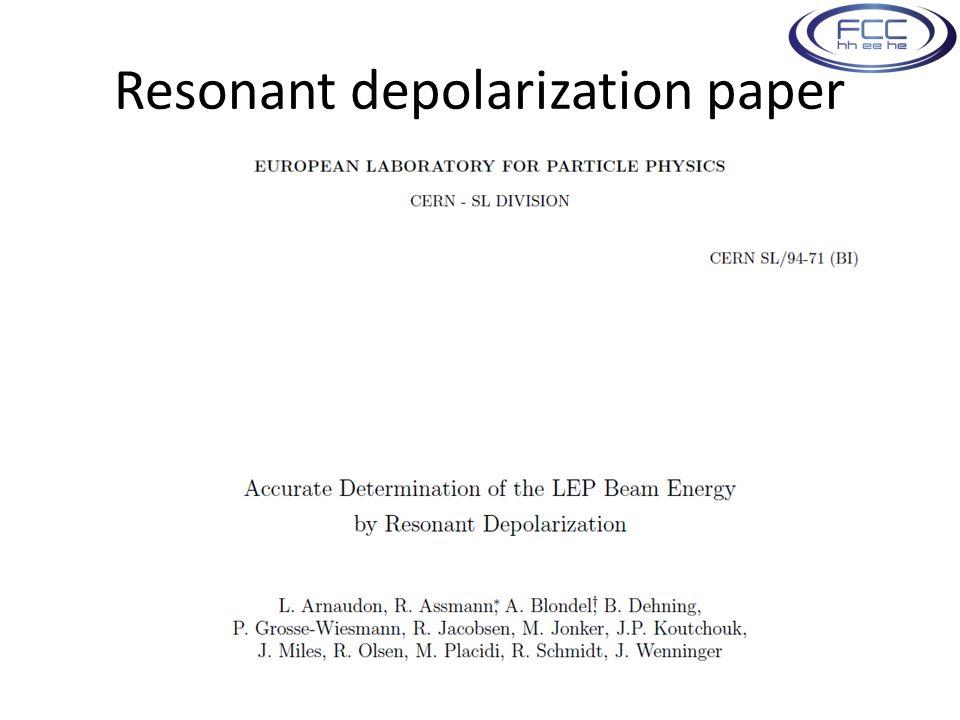 Resonant depolarization paper M. Koratzinos12
