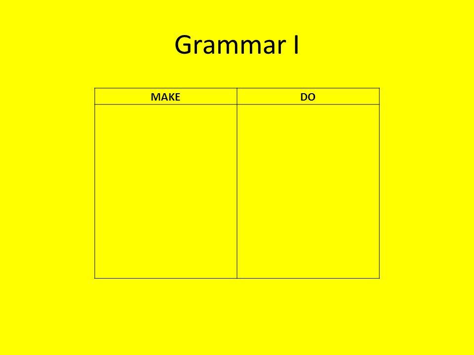Grammar I MAKEDO