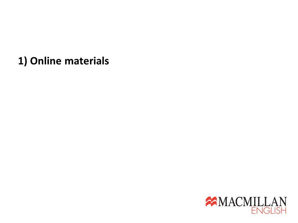 1) Online materials