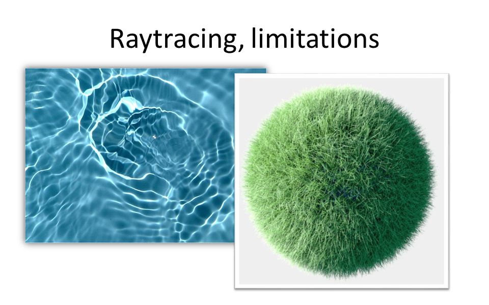 Raytracing, limitations