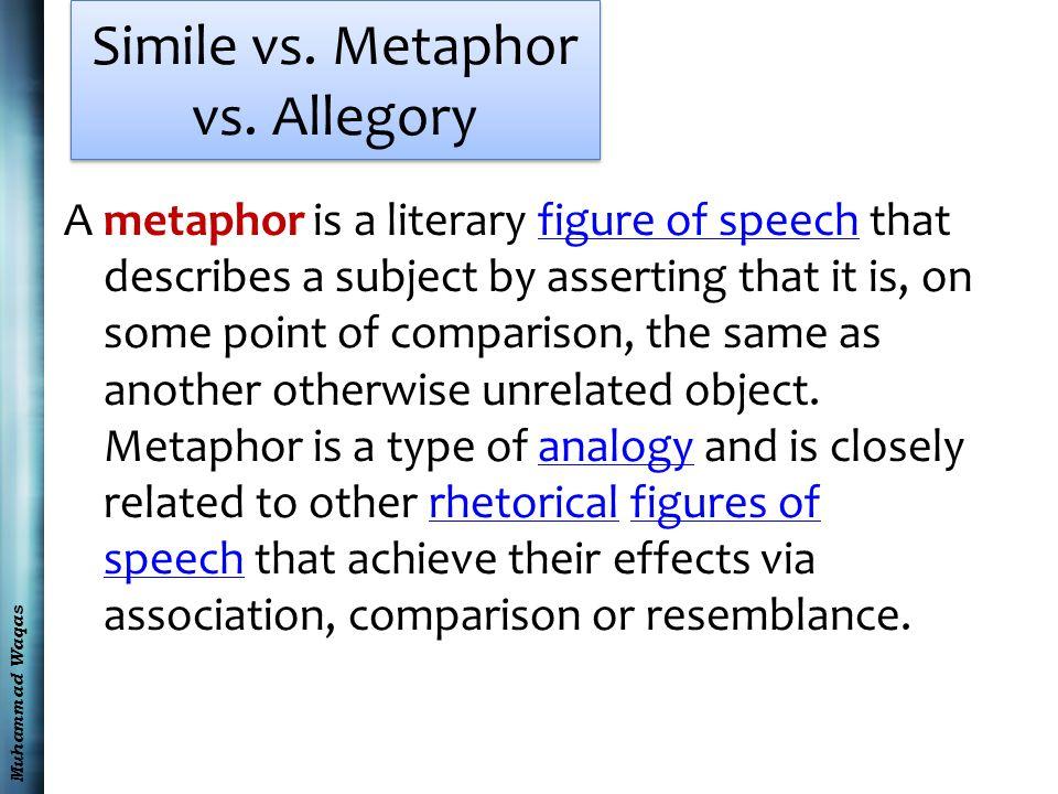 Muhammad Waqas Simile vs.Metaphor vs.