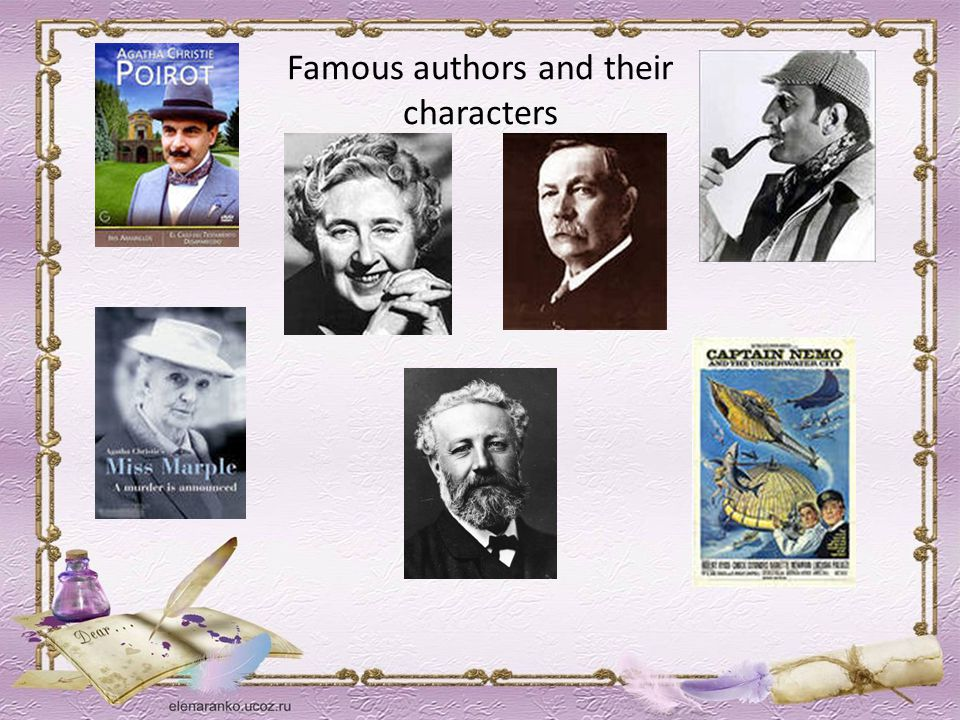 Famous authors and their characters