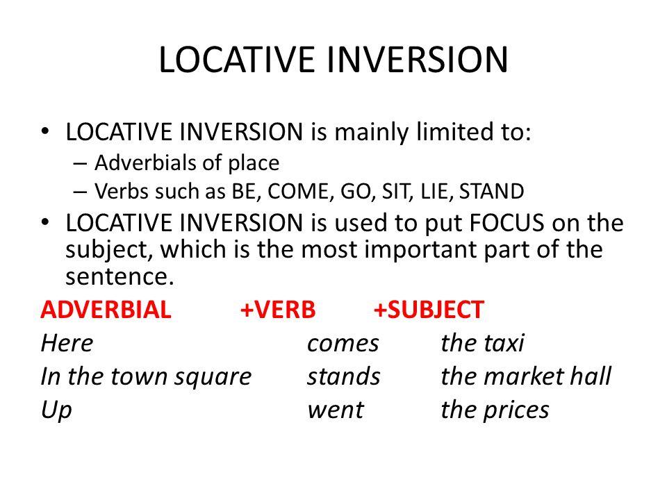 NEGATIVE AND LOCATIVE INVERSION