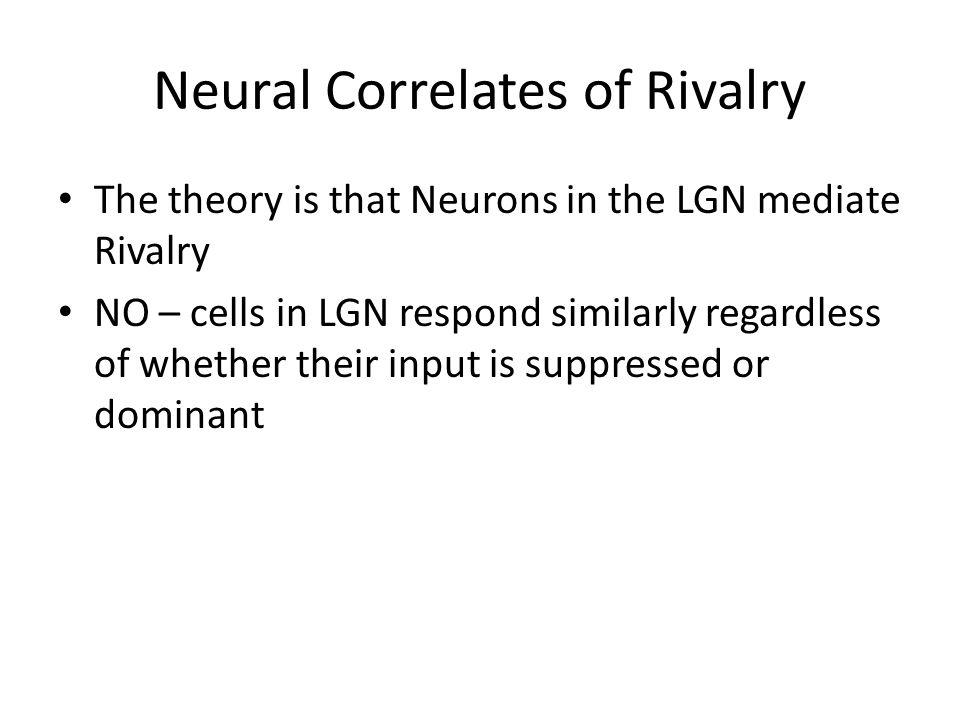 Neural Correlates of Rivalry V1.V4. V5.