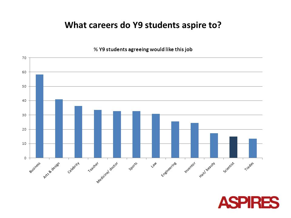 What careers do Y9 students aspire to