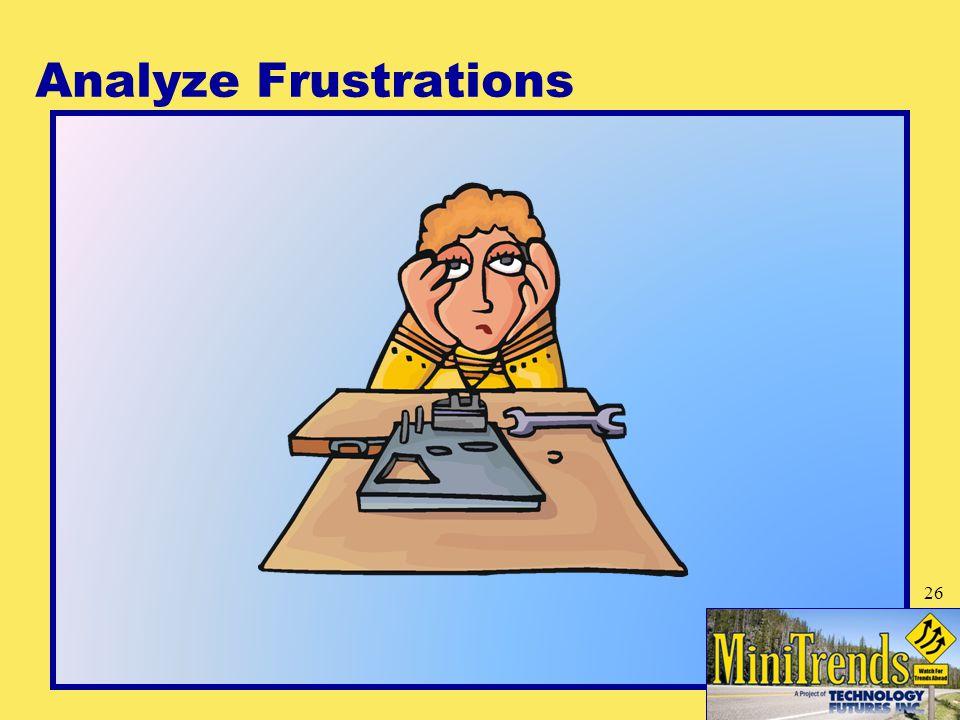 Analyze Frustrations 26