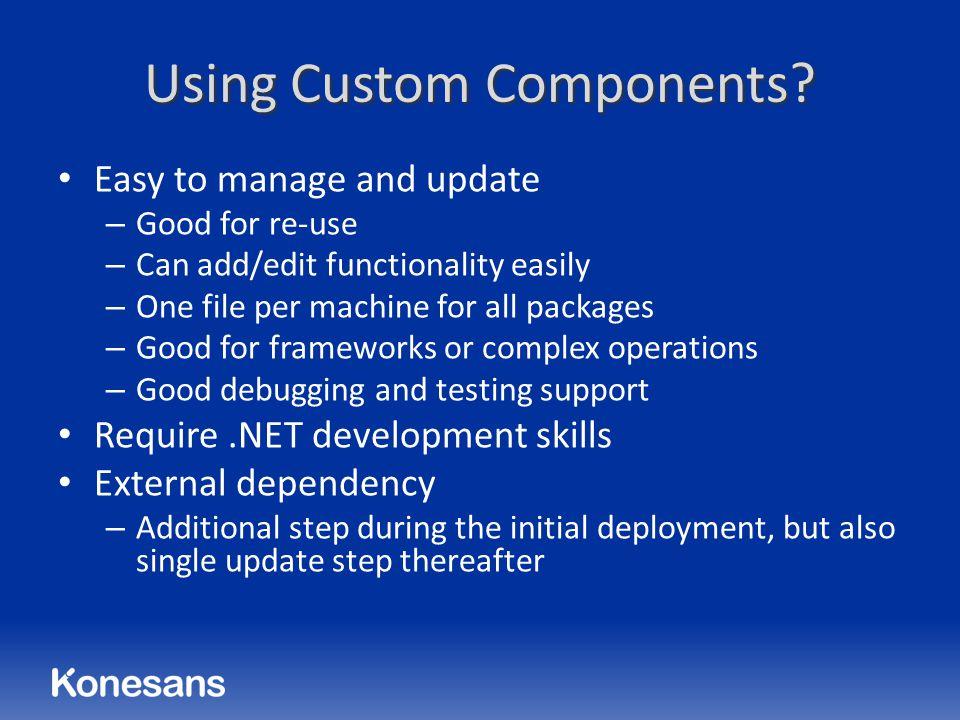 Using Custom Components.
