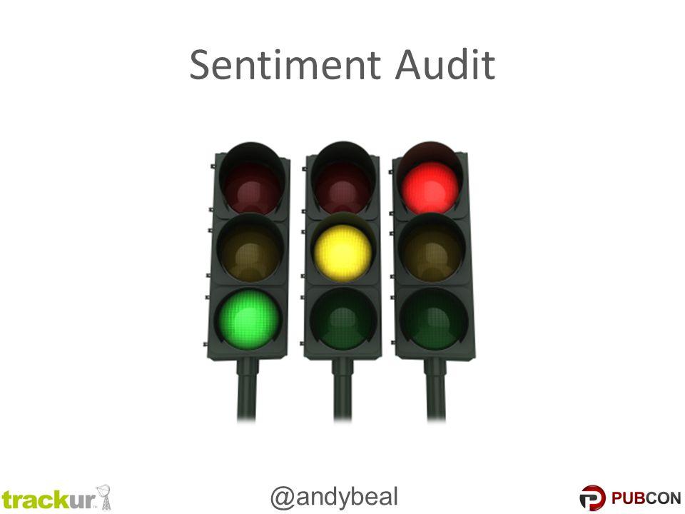 @andybeal Sentiment Audit