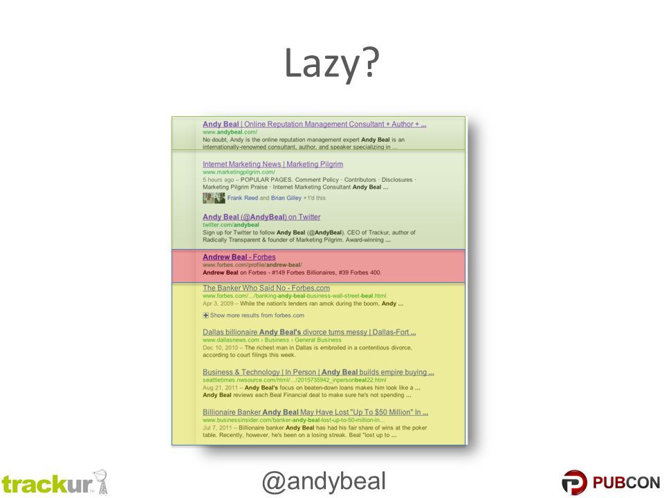 @andybeal Lazy?