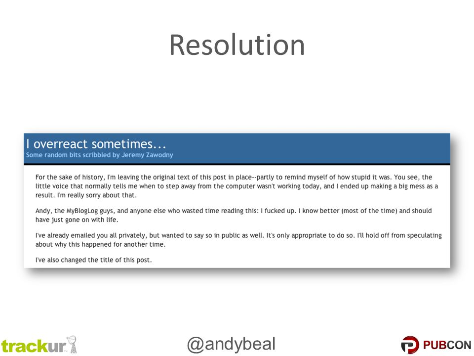 @andybeal Resolution