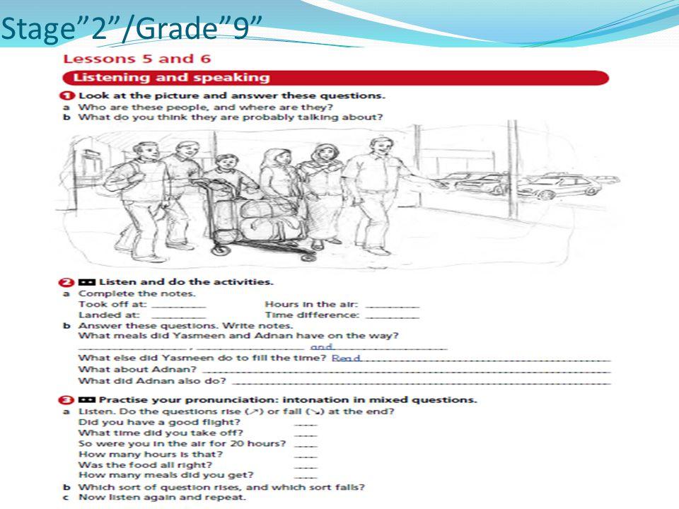 Stage 2 /Grade 9