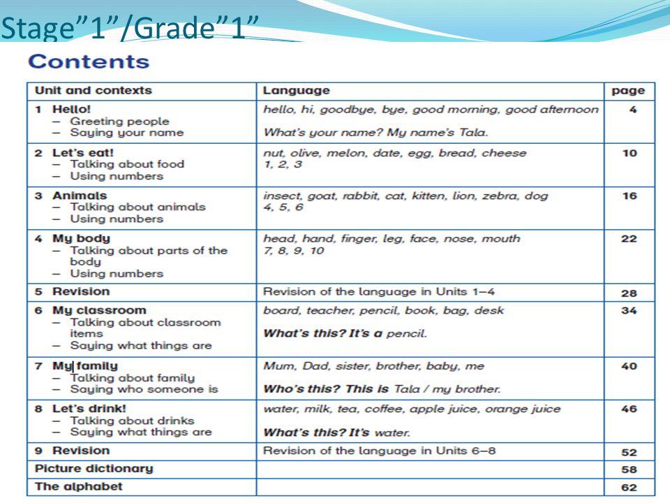 Stage 1 /Grade 1