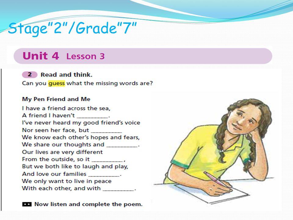 Stage 2 /Grade 7