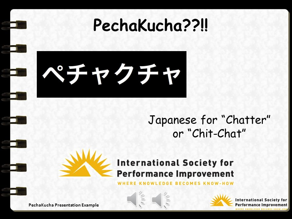 PechaKucha Presentation Example Say What !!