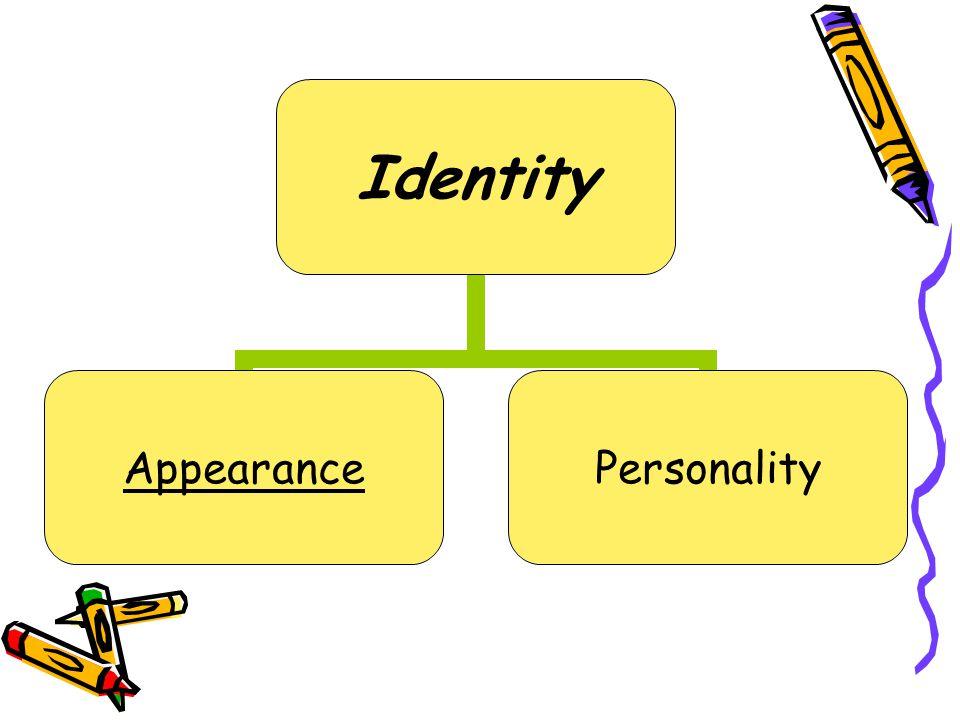 Identity AppearancePersonality