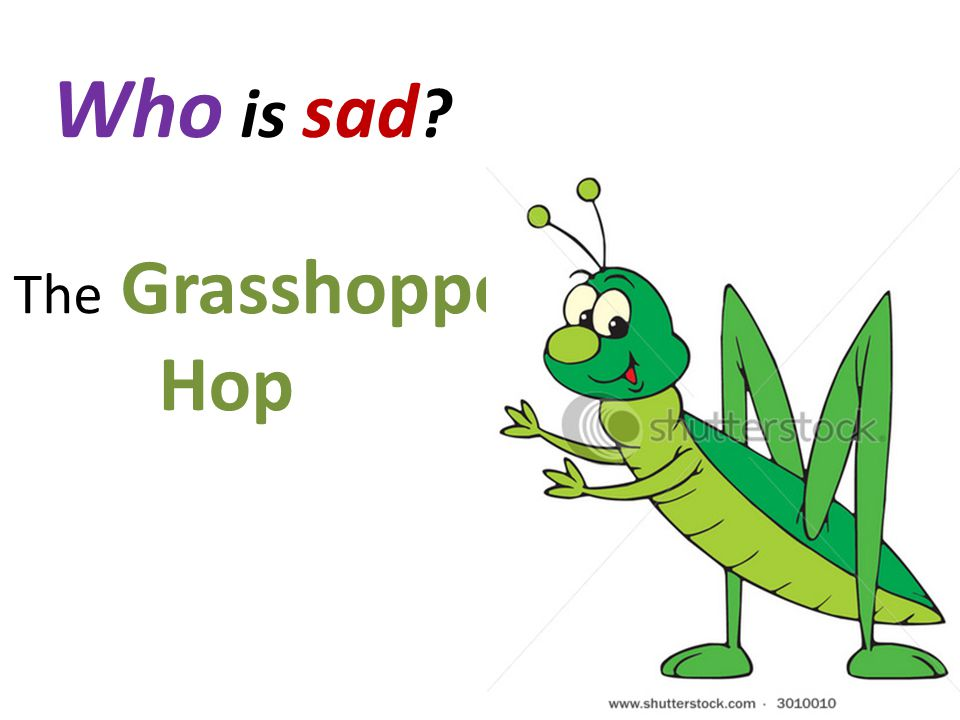 Who is sad ? The Grasshopper Hop