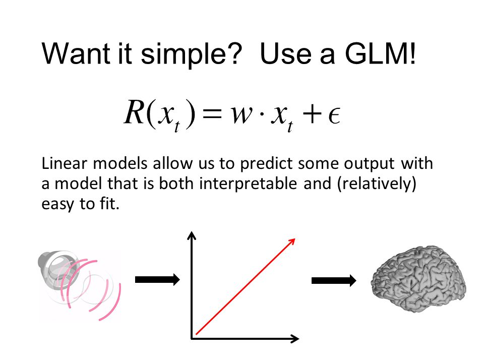Want it simple? Use a GLM! Linear models allow us to predict some output with a model that is both interpretable and (relatively) easy to fit.
