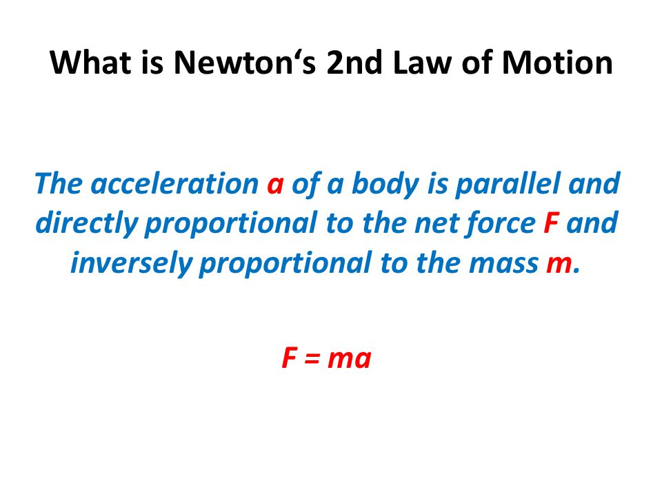 Example Haiku poem The net force on an object is its mass times its acceleration.