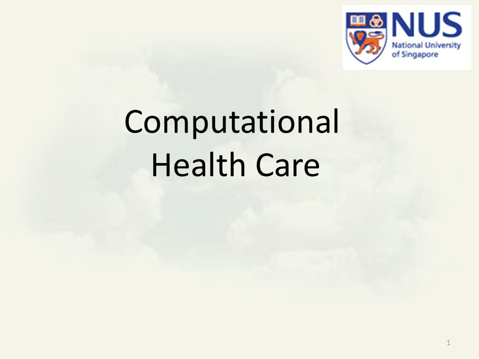 Motivation We have to do our own research – effective health care is ethnic, cultural and environmental dependent NUS has core technology 2