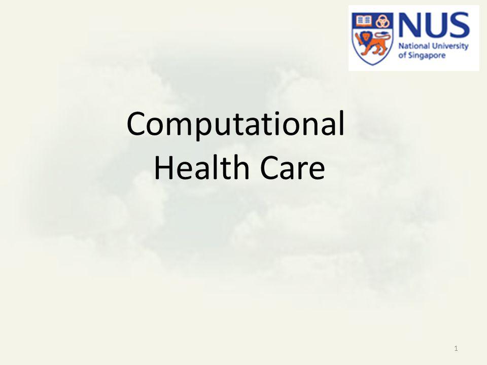 Computational Health Care 1