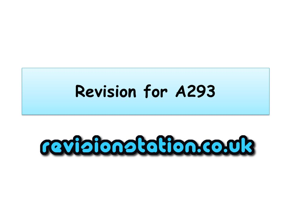 Revision for A293