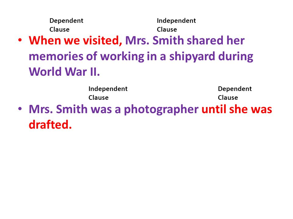 When we visited, Mrs. Smith shared her memories of working in a shipyard during World War II. Mrs. Smith was a photographer until she was drafted. Dep