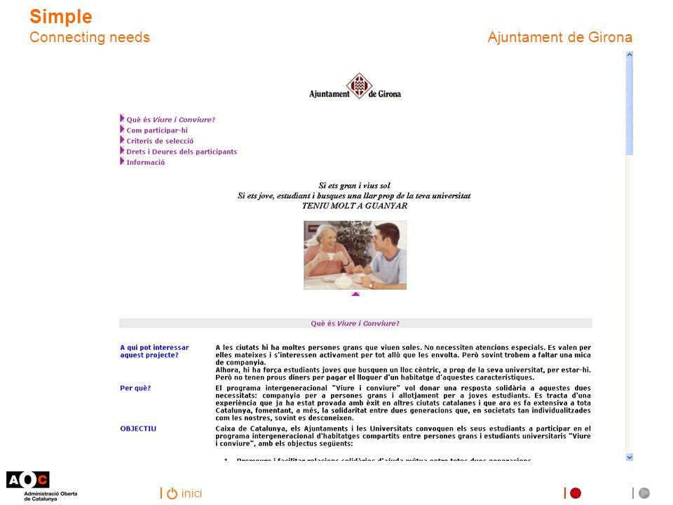 inici Simple Connecting needs Ajuntament de Girona