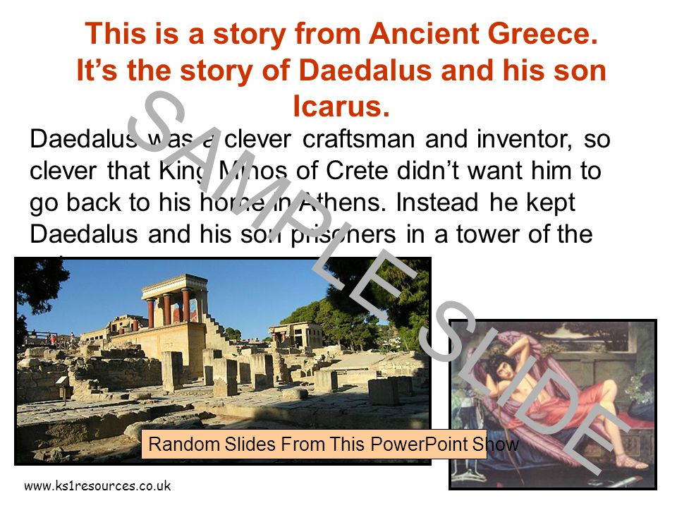 www.ks1resources.co.uk This is a story from Ancient Greece.