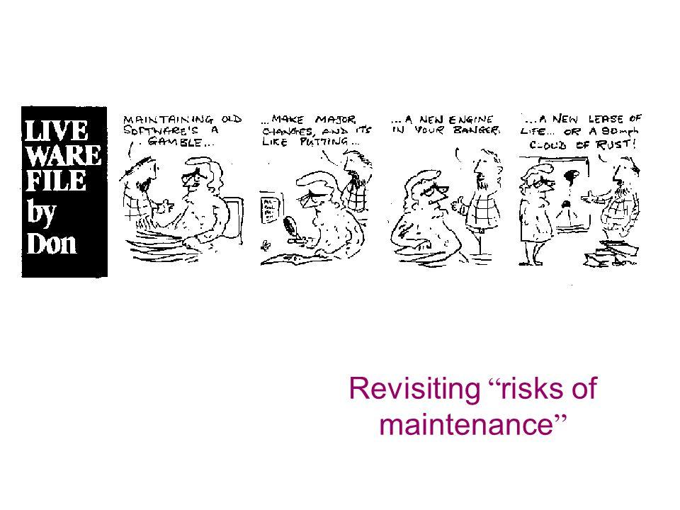 Revisiting risks of maintenance