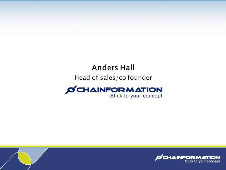 Anders Hall Head of sales/co founder