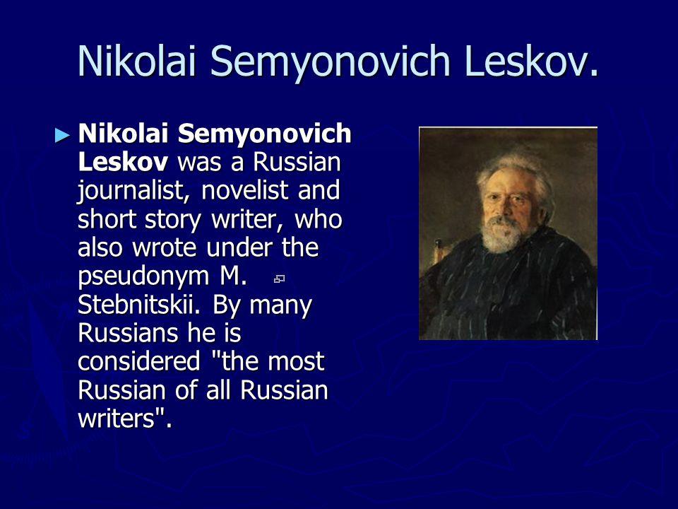 Nicolai Vasilievich Gogol ► Nikolai Vasilievich Gogol (April 1, 1809 – March 4, 1852) was a Russian writer of Ukrainian ethnicity.
