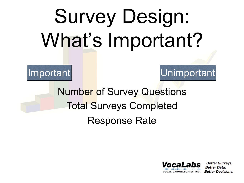 Survey Design: What's Important.