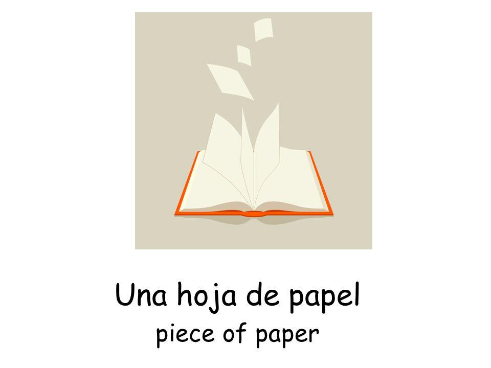 Una hoja de papel piece of paper