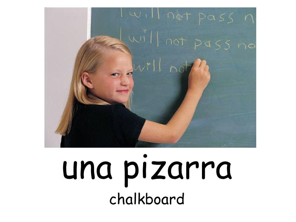 una pizarra chalkboard